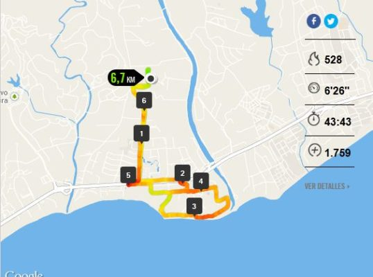 recorrido running estepona