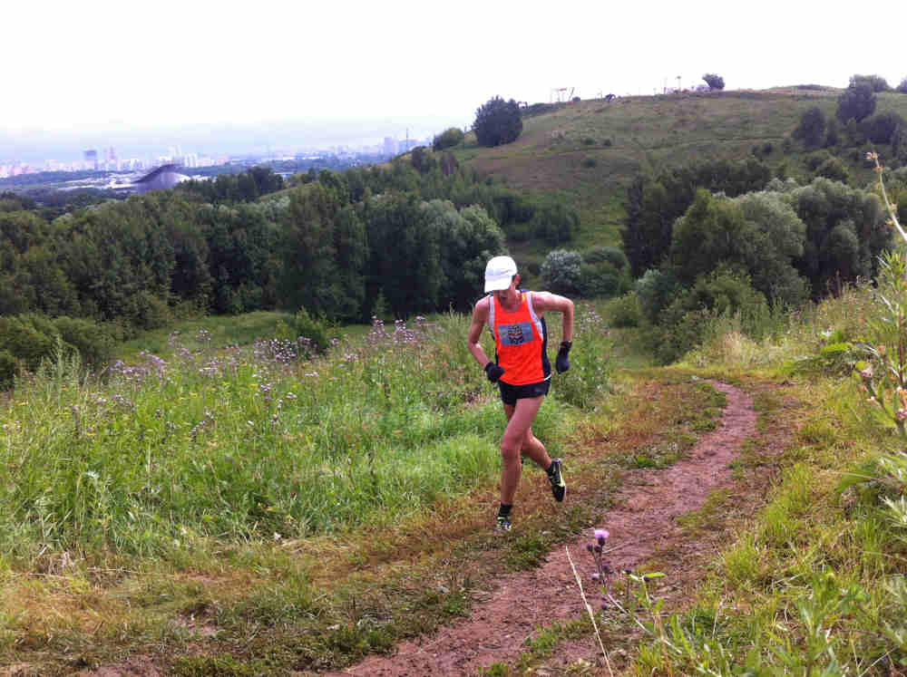 Hombre haciendo Trail Running